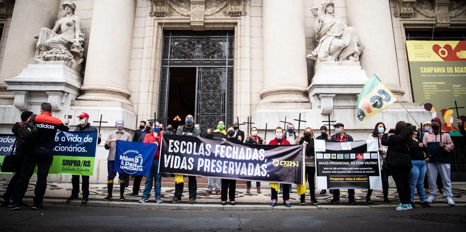 Urgente: Justiça defere em parte liminar do CPERS e rede estadual deve suspender aulas presenciais