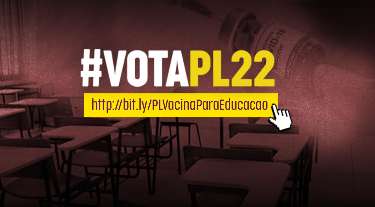 #VotaPL22: Projeto de Lei condiciona aulas presenciais à vacinação de professores e funcionários