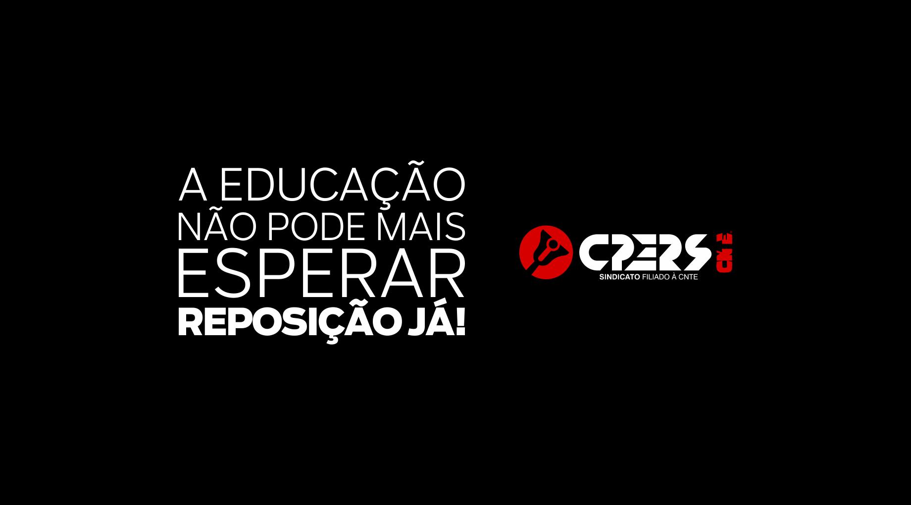 Com veiculação em horário nobre, CPERS lança campanha por #ReposiçãoJÁ